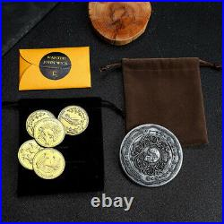 John Wick Gold Coins Blood Oath Marker Cosplay Prop Replica Collection Gift