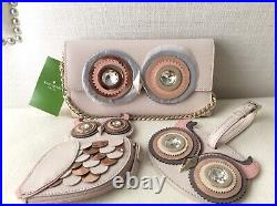 Kate Spade Blaze A Trail Owl Milou Wallet Crossbody Coin Purse & Luggage Tag Set