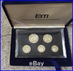 Macau Macao 1984 Silver Proof coin set