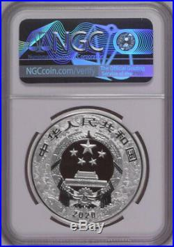 NGC PF70 2020 China Lunar Series Rat 3g Gold and 30g Silver Colorized Coins Set