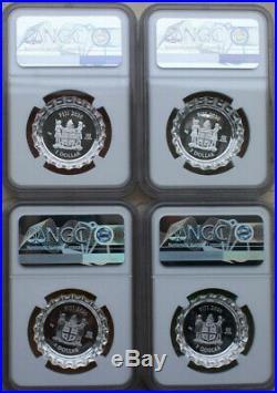 NGC PF70 2020 Fiji Coca-Cola Coke Sprite Fanta Bottle Cap Silver Coins Set