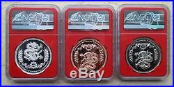 NGC PF70 China Great Wall Medals Set (BICE, Beijing Coin Expo, Show Releases)