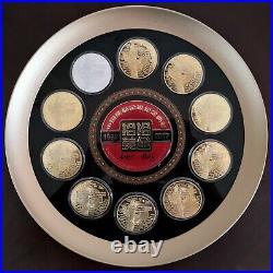 Nanjing Mint 2017 China 35th ANNI of Gold PANDA 450g silver medal set China coin