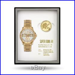 New York Giants Super Bowl Watch & Coin Gift Set Limited 50 sets MSRP $375