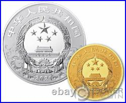 OX Lunar Year Set Silver Coin 10 Yuan Gold Coin 50 Yuan China 2021