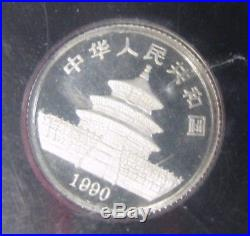 RARE 1990 3 Coin China Platinum Panda PROOF Set Only 2,500 Minted
