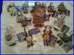 RARE ALL 11 Hallmark American Spirit Cloth Dolls & Coin Set