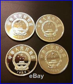 Rare Animals Of China Panda 1986-1992 Gold & Silver 10 Coins Only 250 Sets Made