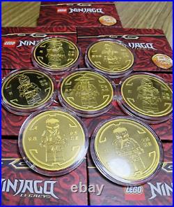 Rare China 2021 LEGO Ninjaga Legacy 10th Anniversary Coin Set