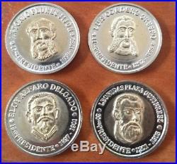SET ECUADOR 20 COINS (1st to 20th PRESID) UNCIRCULATE BIMETALIC-MINTAGE 400 SETS