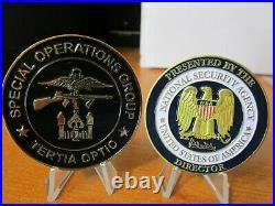 SET of 9 Challenge Coins CIA SCS SAD SOG SAC NSA Director Navy Seal Team VI