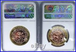 SOLE PF70 SET! 2016 Martin Weiss Panda Coin Ambassador TriMet + Piefort NGC