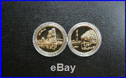 ShangHai Mint Gilt brass GUILIN Scenery Coin medal set