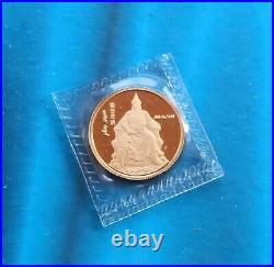 Shanghai Mint 1993 Genghis Khan Gold&Silver&Copper medal set China coin, RARE