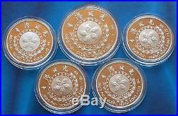 Shanghai Mint1997 China silver medal Hongkong Scenery set China coin