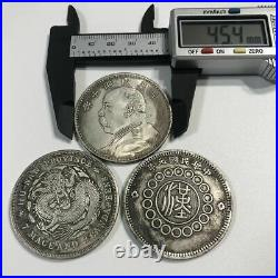 Special rare! Set of 3 old coins Republic of China Ginryu