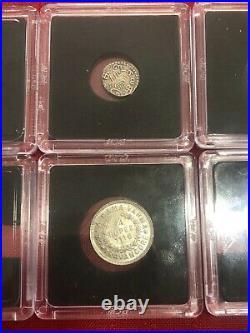 Travancore India Set Of Coins Lot Uncirculated Condition Rare Scarce Fanam Rupee