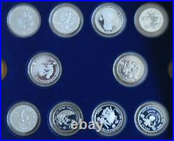 UNICEF year of the Child 1979-81 set 30 silver proof coins inc China and India
