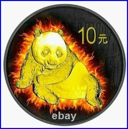 USA 2014 American Silver Eagle CHINA 2015 Panda Burning Coin Set Silver Coin