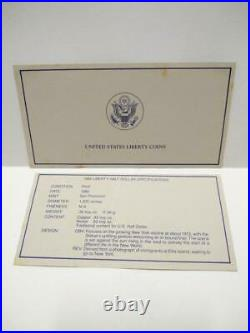 United States 1986 Liberty Silver Proof Coin Set $1 & Half $ Box & Cert (OC445)