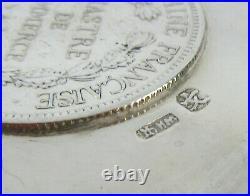 Wang Hing Silver Coin Dish Set 1901 Indo China Trade Dollar, One of Three Listed